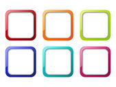Renk apps simge kümesi — Stok Vektör