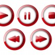 Set of media player buttons - Grafika wektorowa