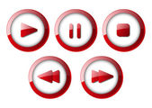 Set of media player buttons — Stock Vector