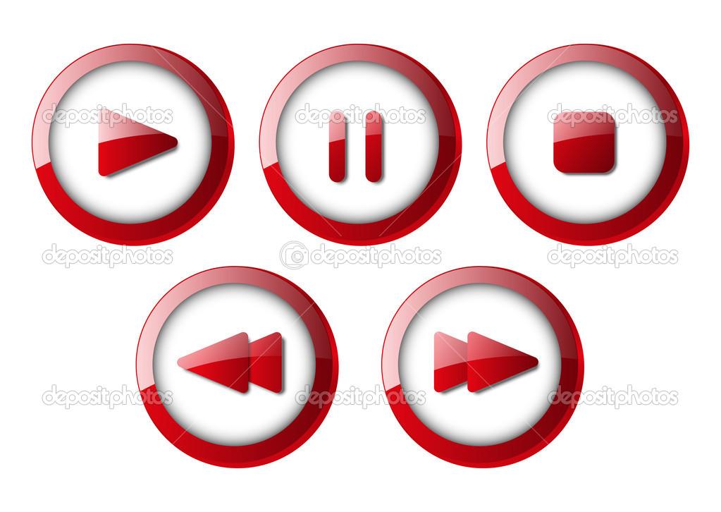 播放器按钮图标素材_按钮png素材