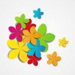 Paper flowers — Stock Vector