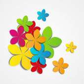 Paper flowers — Vector de stock