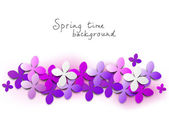 Fondo floral lila — Vector de stock