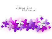 Fundo floral lilás — Vetorial Stock