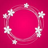 Floral γύρος πλαισίων με χώρο για κείμενο — Διανυσματικό Αρχείο