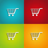 Shopping carts — Stockvektor