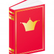 Book for little princess — Stock Vector
