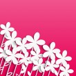 Paper floral background with place for text -  