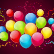 Birthday  background with color balloons -  