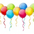 Birthday balloon background -  