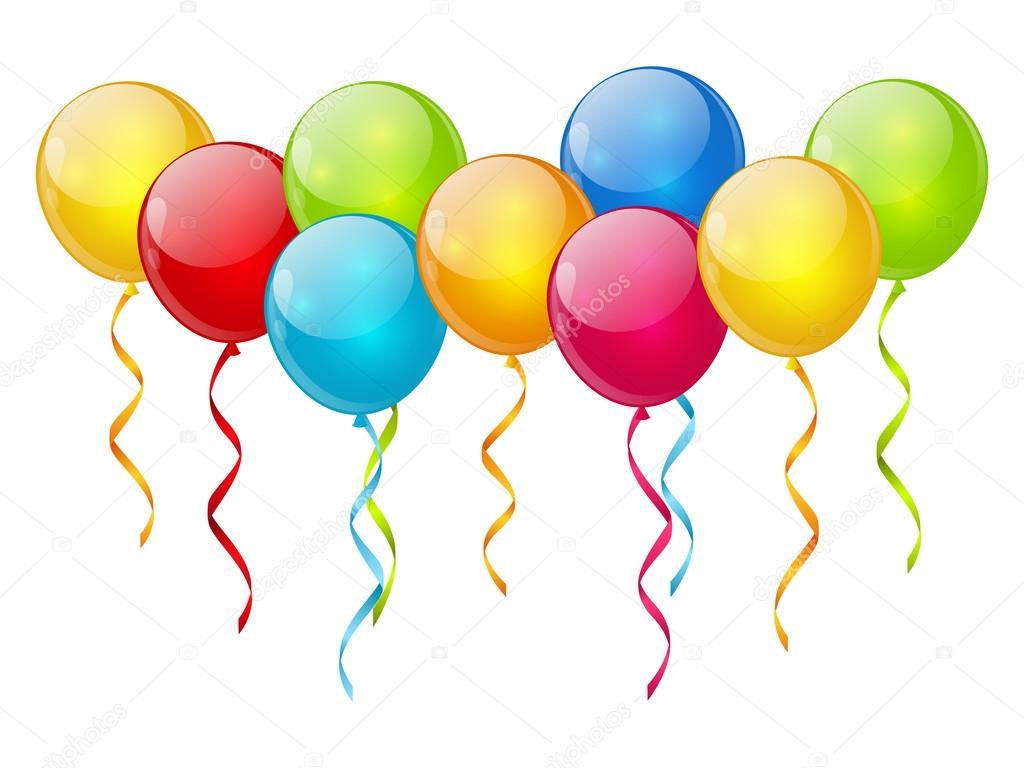 Birthday Balloons Border Birthday balloon background