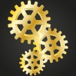 Royalty-Free Stock Imagem Vetorial: Golden gear