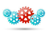 Color gears — Stock Vector