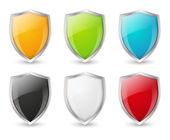 Zestaw ikon tarcza kolorów — Wektor stockowy