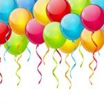 Birthday balloon background — Stock Vector