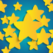 Vector background with paper stars — ベクター素材ストック