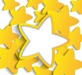 Paper stars — Stock Vector