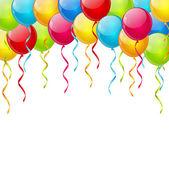 Ballon achtergrond met plaats voor tekst — Stockvector