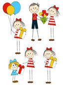 Zestaw wakacje zabawny dzieci — Wektor stockowy