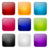 Set di icone di colore apps — Vettoriale Stock