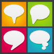 Set of paper speech bubbles — Stock Vector #22577541