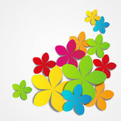 Papier bloemen — Stockvector