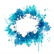 Blue paint abstract background  — Stock Vector