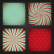 Set of retro abstract backgrounds — Stock Vector #22611101
