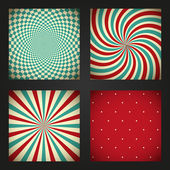 Set of retro abstract backgrounds — Cтоковый вектор