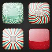 Set of retro apps icons — Stock Vector