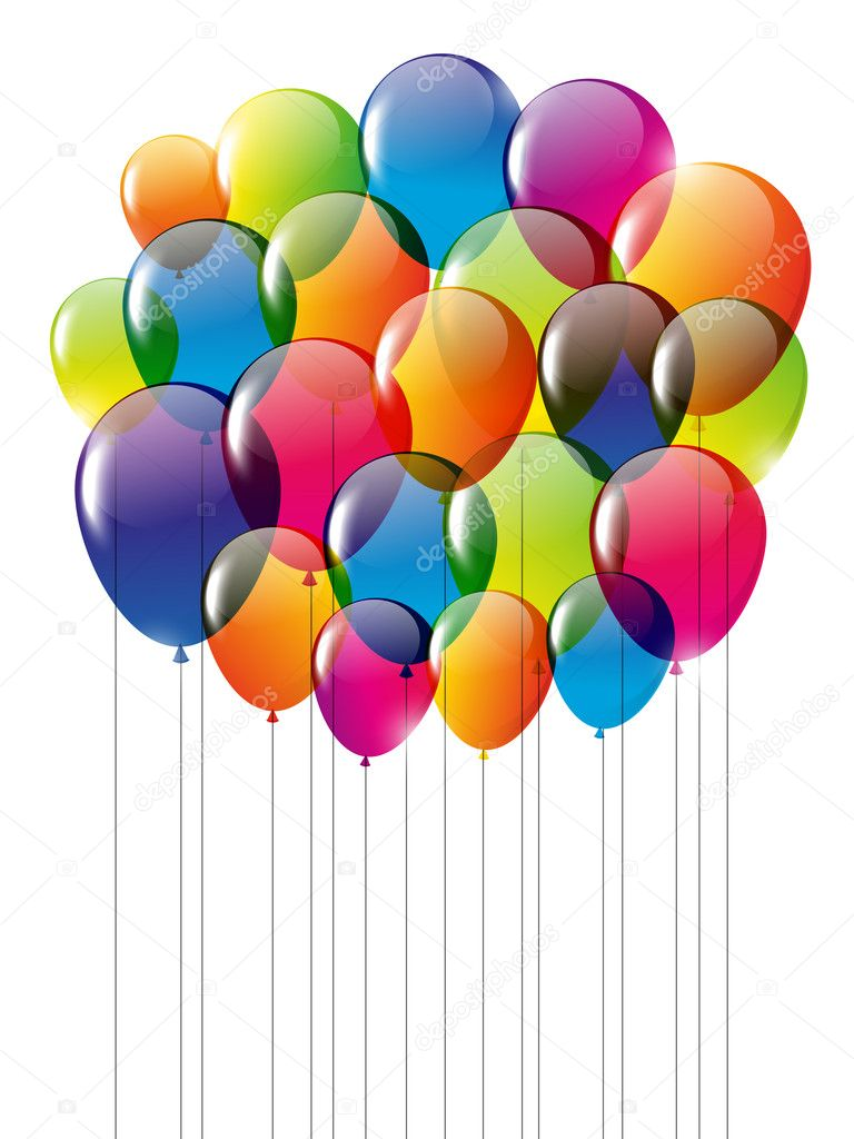 Happy Birthday card with balloons Vector Huhli13 22896178 – Birthday Cards Balloons