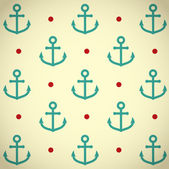 Retro background with anchor pattern — Stock Vector