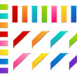 Set of color paper ribbons — Imagen vectorial