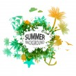 Summer vacation background with place for text — Stock vektor