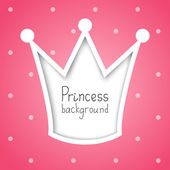 Princess background — Stock Vector