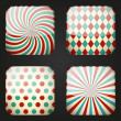 Set of retro apps icons — Imagen vectorial