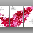 Floral vertical banners for Your design — Stock Vector