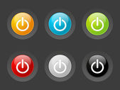 Set of vector power buttons — Stock Vector