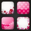 Set of floral apps icons — Stock Vector