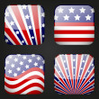 Set of American apps icons — Stock Vector