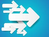 Abstracte achtergrond met papier pijlen — Stockvector