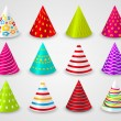Set of party paper hats — Stock Vector #25561923
