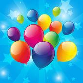 Verjaardag achtergrond met kleur ballonnen — Stockvector