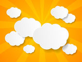 White paper clouds background with place for text — ストックベクタ