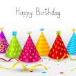 Birthday hats background with place for text — Vector de stock #25919165