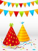 Birthday hats background — Stock Vector