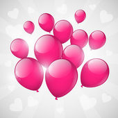 Pink balloons — Stock Vector