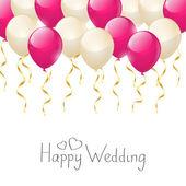 Wedding balloons — Stock Vector