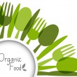 Organic food background — Imagen vectorial