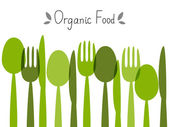 Organic food background — Stock Vector